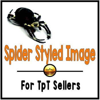 Halloween Black SPIDER Styled Image for Commercial Use