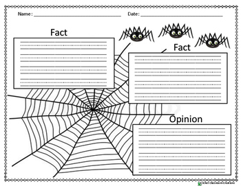 SPIDER WRITING!!! FACT AND OPINION.