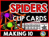 HALLOWEEN MATH CENTER KINDERGARTEN (OCTOBER ACTIVITY) SPIDERS MAKING TEN GAME