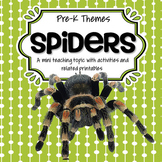 SPIDERS Theme Math and Literacy Activities and Centers for Preschool