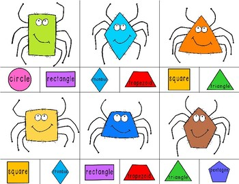 SPIDERS Shape Clip It {A Beginning Work Task)