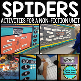 Spiders Activities - Spider NonFiction Unit-Spider Research-Spider Thematic Unit