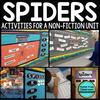 Spiders Activities - Spider NonFiction Unit-Spider Researc