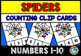 HALLOWEEN ACTIVITY KINDERGARTEN (SPIDERS COUNTING 1-10) OCTOBER MATH CENTER