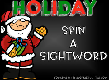 SPIN A SIGHTWORD - Holiday