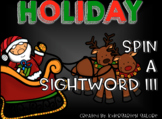 SPIN A SIGHTWORD III - Holiday