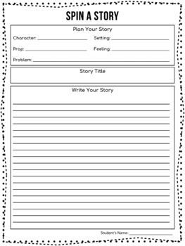 No Print SPIN A STORY - Digital Story Prompt Spinners