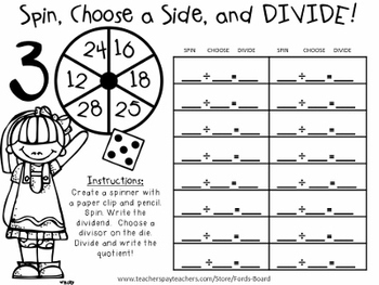 10 Division Centers - Spin, Choose a Side, and Divide