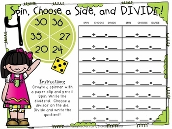 10 Division Centers | Spin, Choose a Side, and Divide