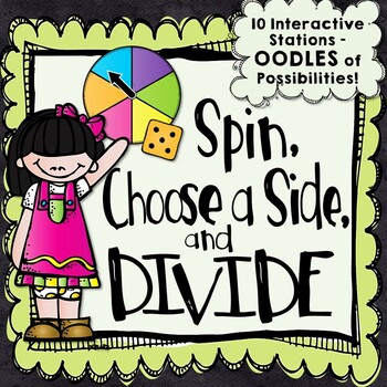10 Division Centers - Spin, Choose a Side, and Divide!