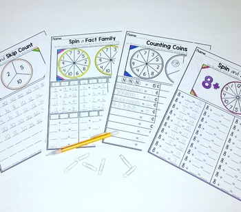 SPIN IT! First Grade Math Fluency