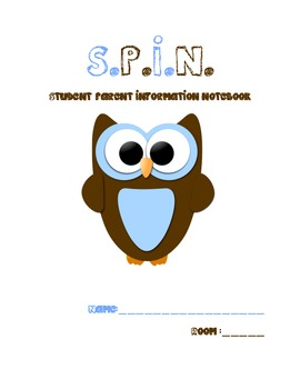 SPIN Notebook Title Page