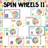 SPIN WHEELS PART II FOR POWER POINT DISTANCE LEARNING