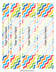 SPINE LABELS (EDITABLE) with 50 Colorful designs