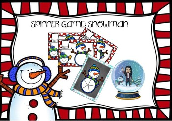 Christmas spinner game. Snowman