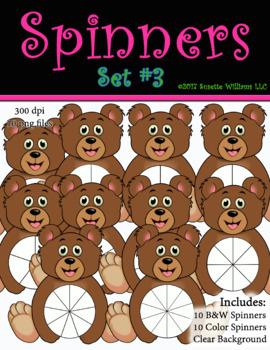 SPINNERS Set #3 - Bears