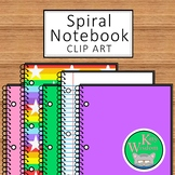 SPIRAL NOTEBOOK Clip Art Set - Over 20 Colors and Designs