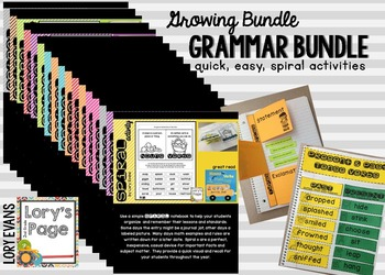 Ela SPIRAL Notebook Activities - Growing Bundle