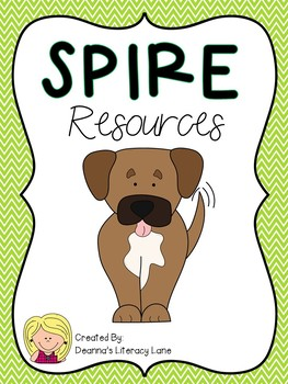 SPIRE Pink, Lime Green, and Teal Chevron Alphabet Strip and Keyword Cards
