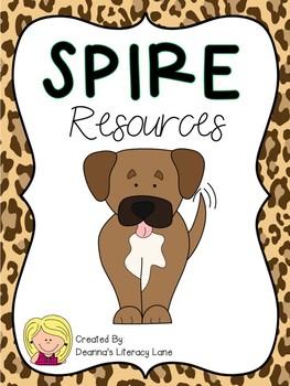SPIRE Animal Print Alphabet Strip and Keyword Cards