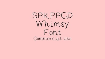 SPKPPCD Whimsy Font: Commercial Use