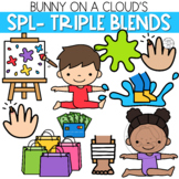 SPL- Three Letter Blends Clipart by Bunny On A Cloud