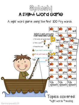 SPLASH! A Sight Word Game- Fry Words 1-100