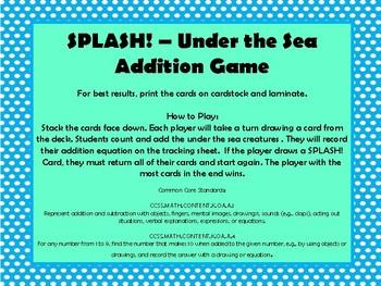 SPLASH! Under the Sea Addition Game
