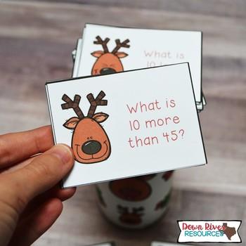 SPLAT! 10 More 10 Less than a Number up to 120 Math Center - Reindeer