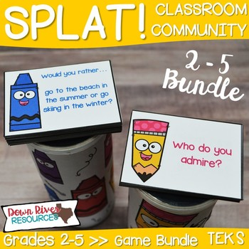 SPLAT! 2-5 Classroom Community Games for Getting to Know You & Team Building