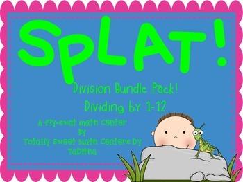 SPLAT- A Fly Swatter Game of Divisors 1-12 Bundle Pack