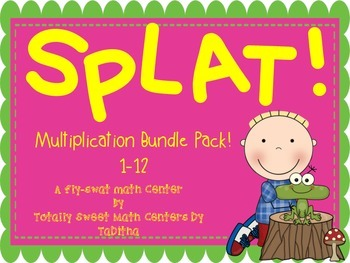 SPLAT- A Fly Swatter Game of Multipliying by 1-12 Bundle Pack