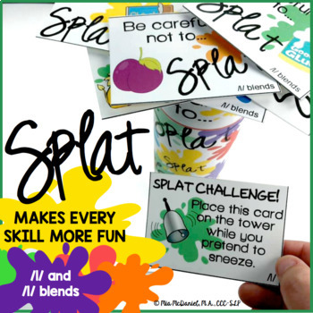 SPLAT!! A fun DIY open ended game PLUS /l/ and /l/ blend v