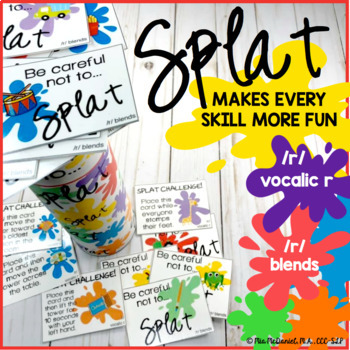 SPLAT!! A fun DIY open ended game PLUS /r/, vocalic /r/, /r/ blends versions!