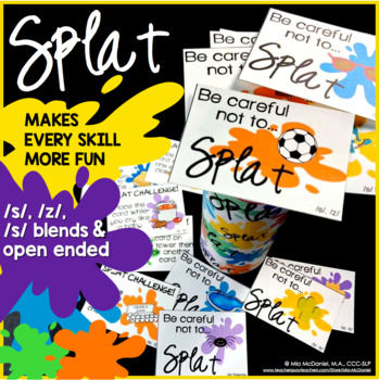 SPLAT!! A fun DIY open ended game PLUS /s/, /z/, & /s/ blend versions!
