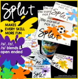 Articulation SPLAT!! A speech therapy game for /s/, /z/, &