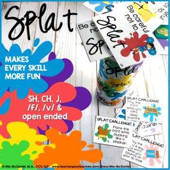 SPLAT!! A fun DIY open ended game PLUS sh, ch, j, /f/ & /v/ versions!