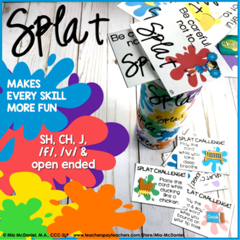 SPLAT!! A fun DIY open ended game PLUS sh, ch, j, /f/ & /v