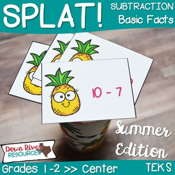 SPLAT! Subtraction: Basic Facts Interactive Math Center- Summer Edition {TEKS}