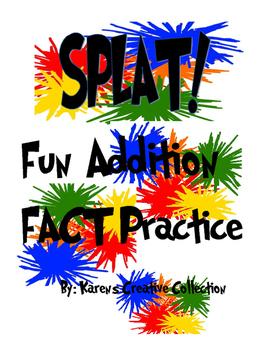 SPLAT Addition Fact Practice Game