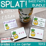 SPLAT! Addition & Subtraction: Basic Facts Math Center Bundle- Summer {TEKS}