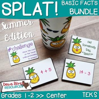 SPLAT! Addition & Subtraction: Basic Facts Math Center Bundle- Summer {TEKS}