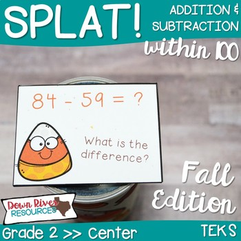 SPLAT! Addition and Subtraction within 100: Using Two-Digit Numbers- Fall {TEKS}