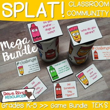 SPLAT! Classroom Community Games Bundle for Getting to Know You & Team Building