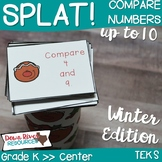 SPLAT! Comparing Numbers to 10 Math Center- Comparative Language- Gingerbread