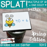 SPLAT! Determine the Sum of a Multiple to 10 & One-Digit Number Math Center