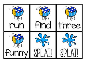 SPLAT! Dolch Pre-primer Sight Word Game