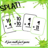 SPLAT! Facts 9 & 10 Addition sums to 20