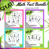 SPLAT! Facts from 0-10 Addition sums to 20