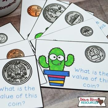 SPLAT! Identifying Coins and Their Values Math Center- U.S. Coins- Cactus {TEKS}